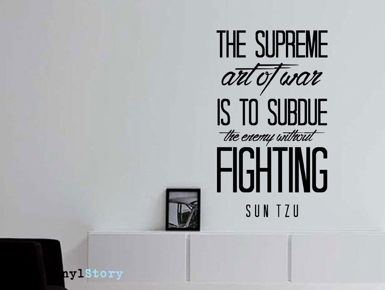 Sun Tzu Quote Art of War Wall Decal War quotes, Art of