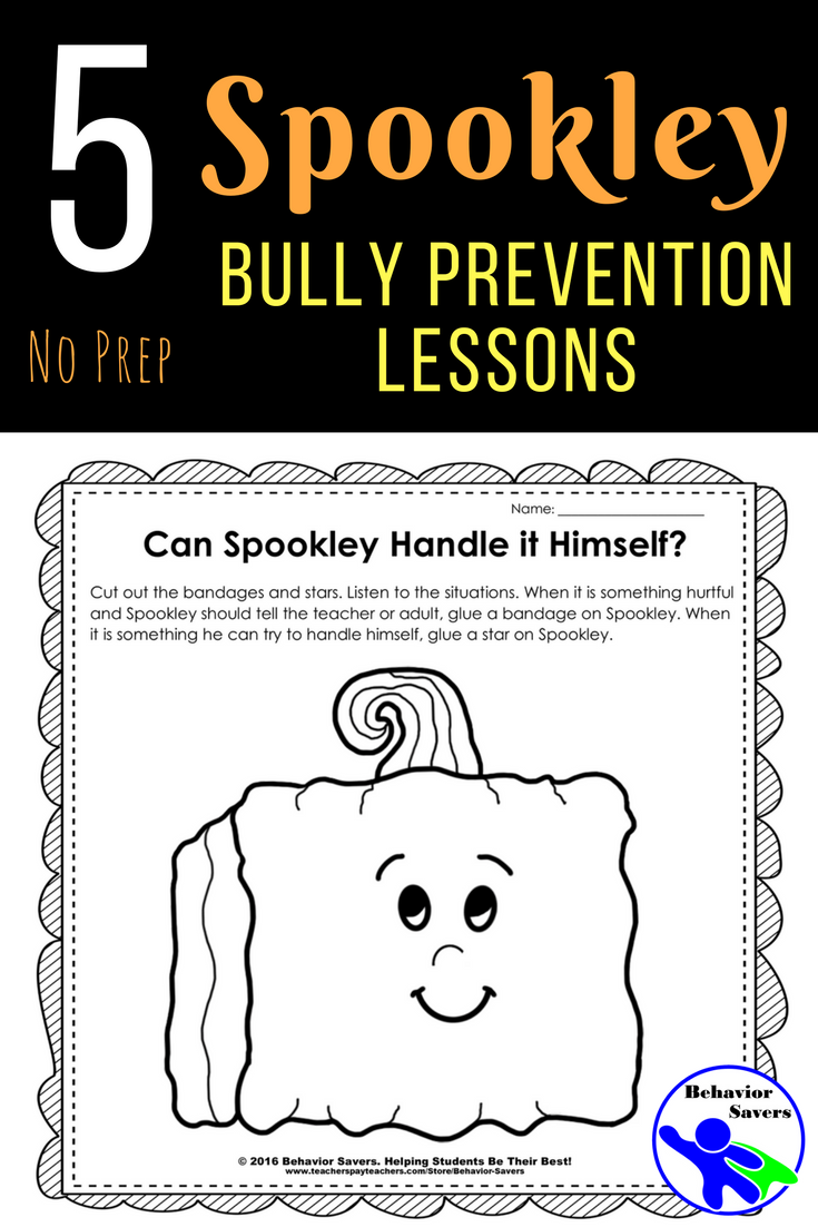 Spookley the Square Pumpkin: Bully Prevention Unit-Kindergarten-2nd Grade   Bullying  lessons [ 1102 x 735 Pixel ]