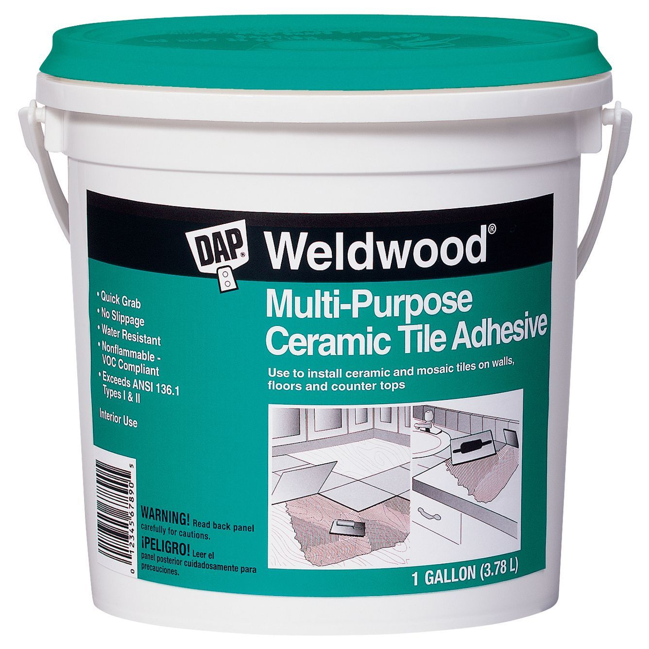 Dap 25192 1 gallon weldwood multipurpose ceramic tile adhesive dap 25192 1 gallon weldwood multipurpose ceramic tile adhesive dailygadgetfo Choice Image