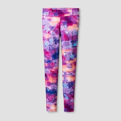 992c3a26b675 Girls  Printed Performance Leggings - C9 Champion Pink M