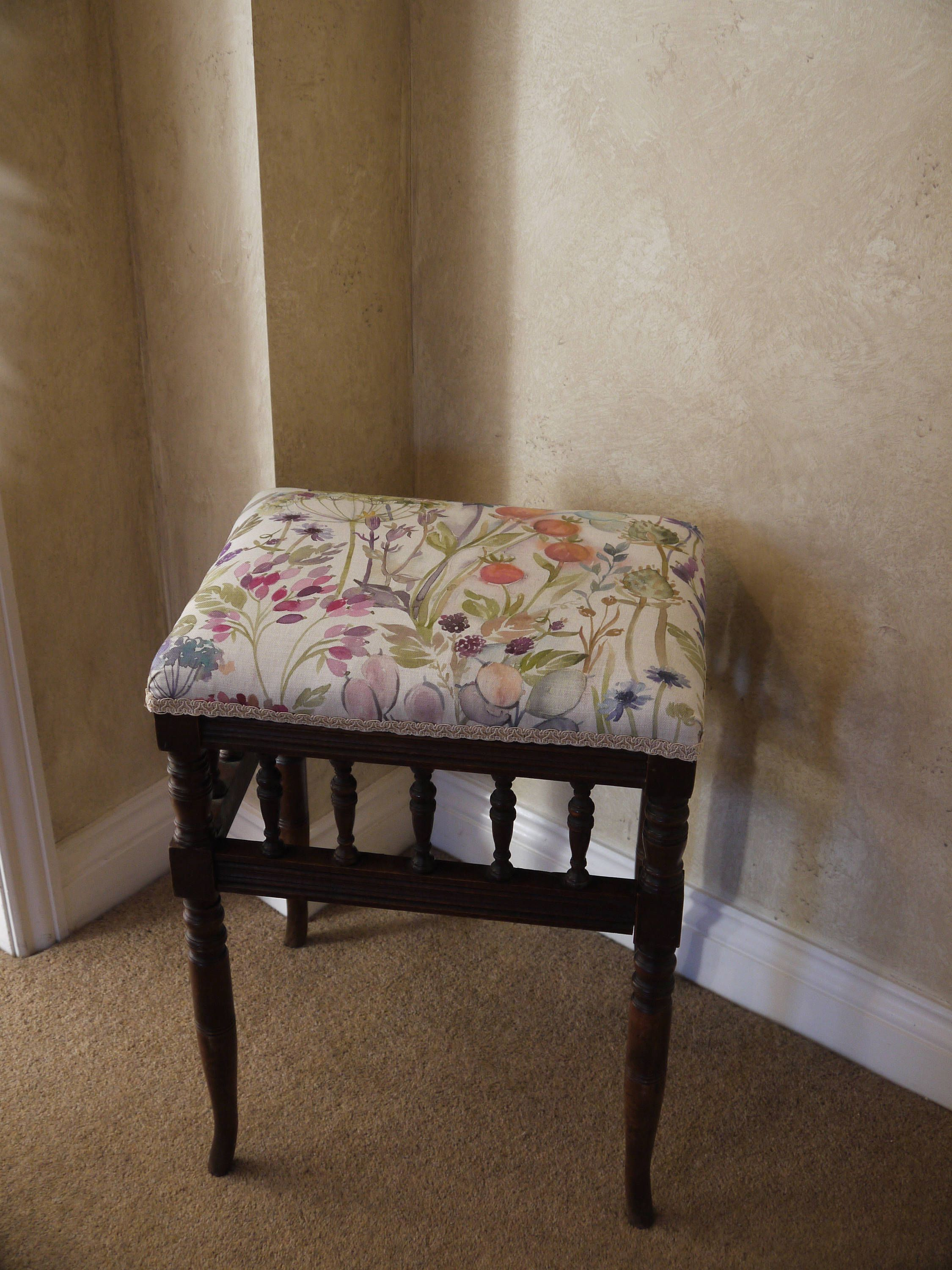 Antique Upholstered Stool Antique Stool Vintage Stool Piano