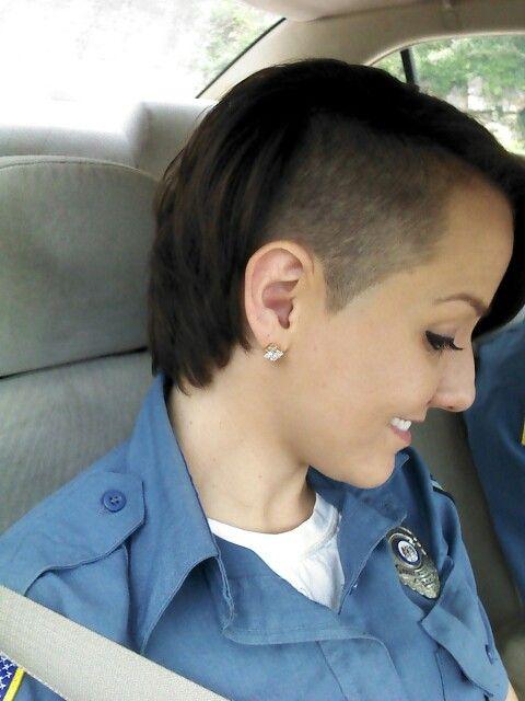 Side Cut Undercut Short Sexy Hair 2015 Pixie Officer Cop Police