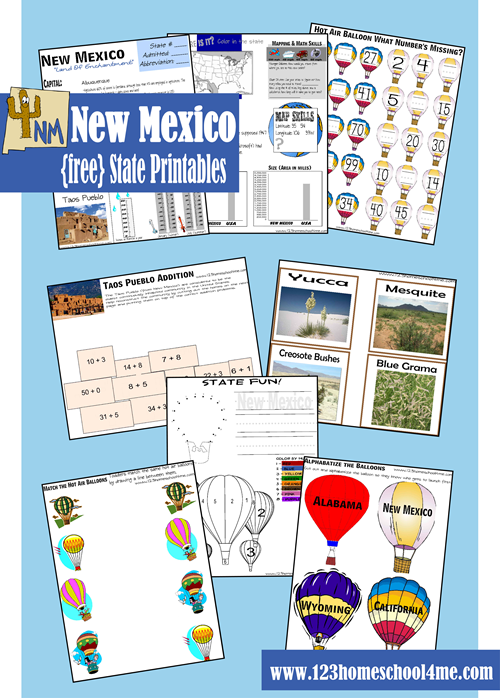 free printable new mexico worksheets for kids - State Printables