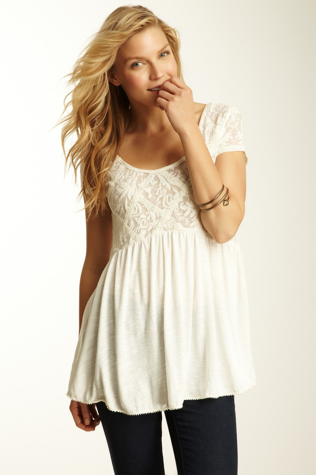 949db655d7e Free People Extreme Babydoll Top | What to wear | Fashion, Tops ...