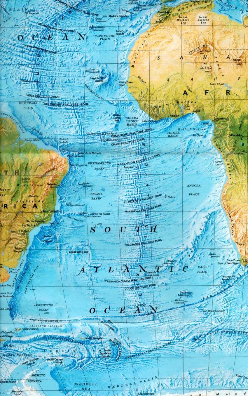 Mid Atlantic Ridge Tectonic Plates Map Ocean Bermuda Triangle