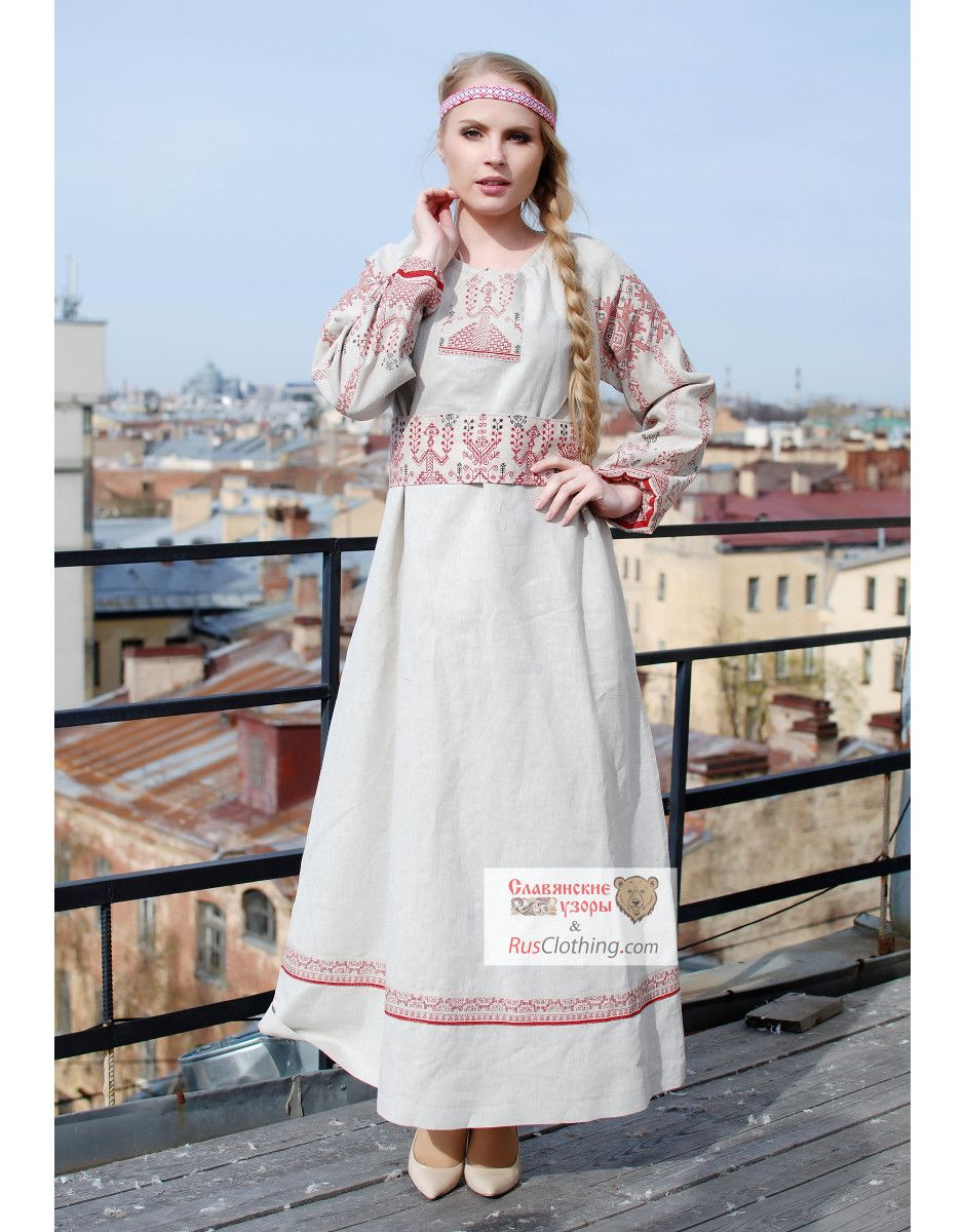 acded84d343 Slavic dress   Matushka Makosh   in 2019