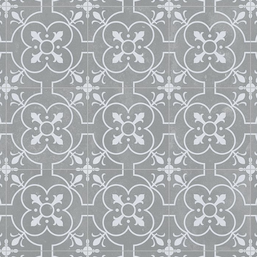 Details about Victorian Tile Effect Sheet Vinyl Flooring ...