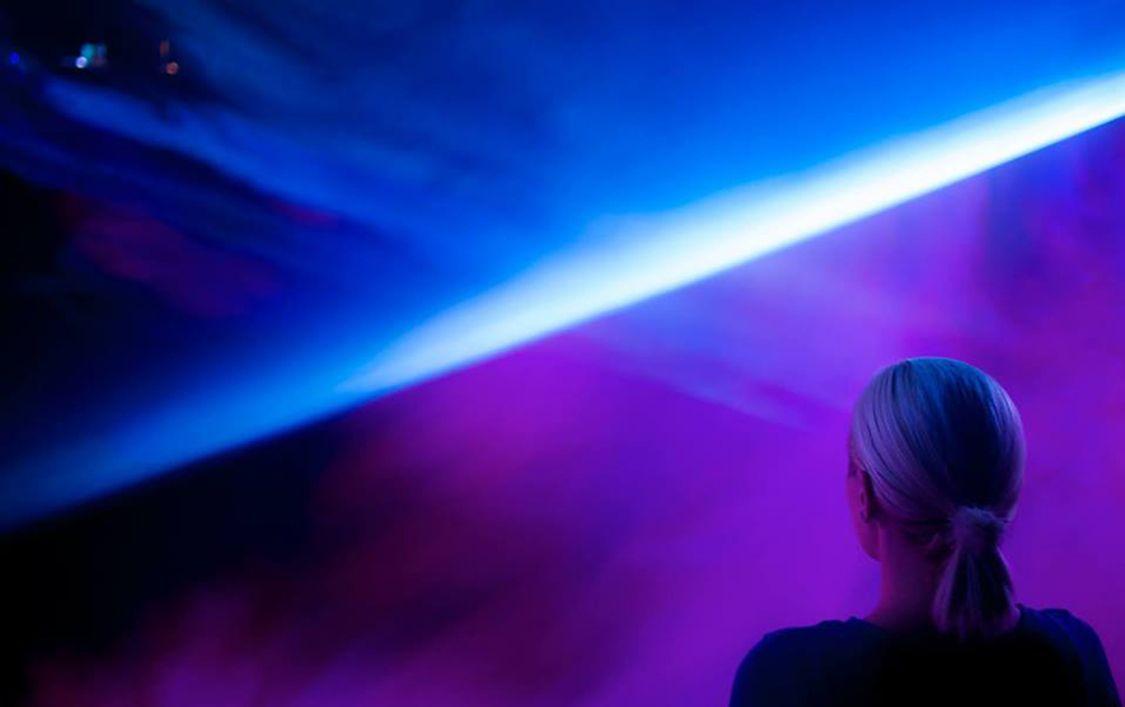 Horizon is an Imaginary Line by Maja Petrić Interactive Video/Light Art Installation