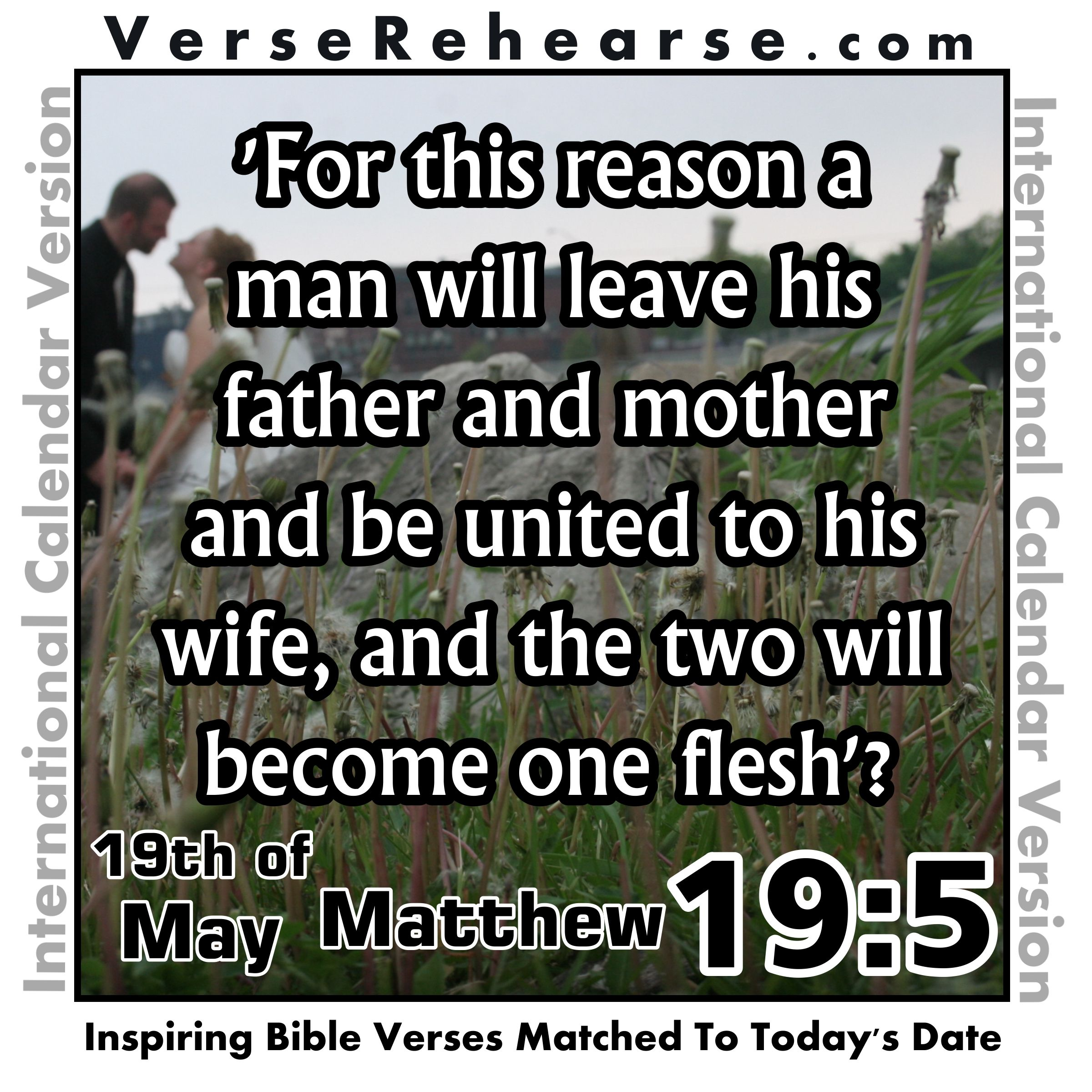 th of matthew for this reason a man will leave his 19th of matthew 19 5 for this reason a man will leave