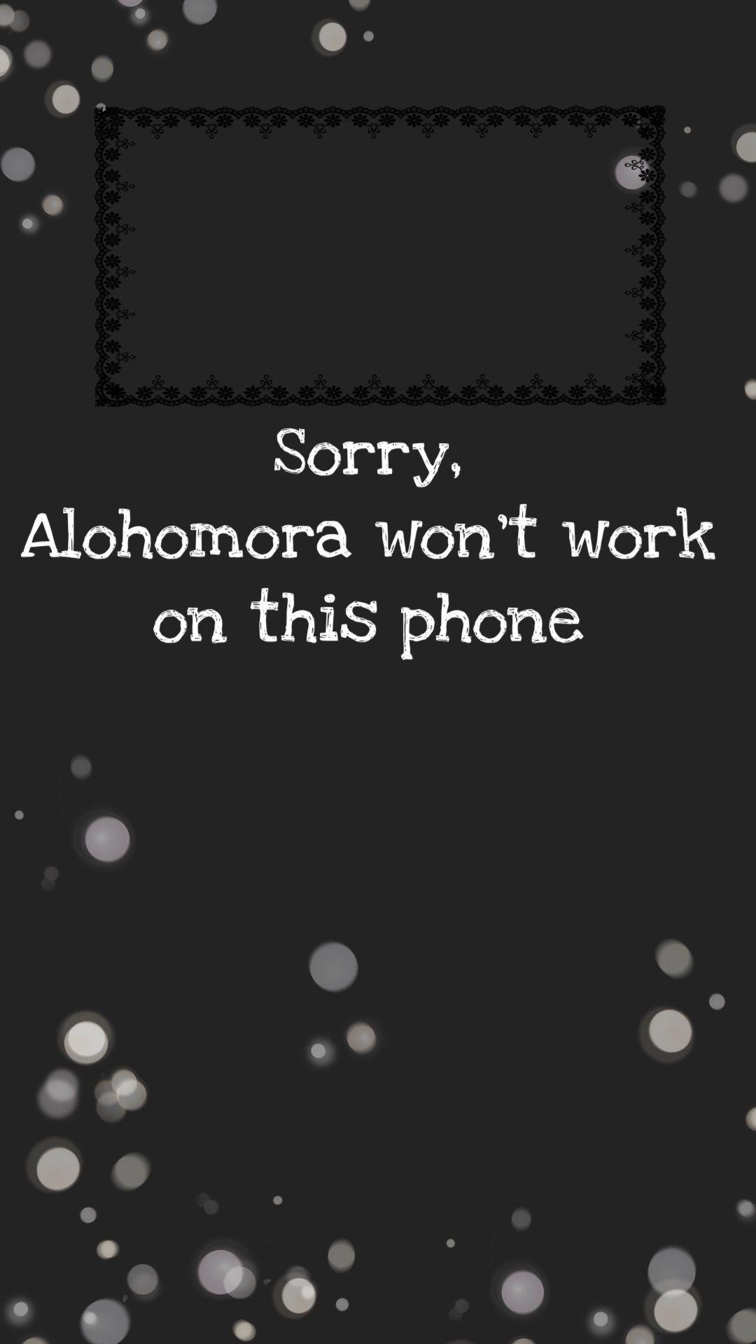 Alohomora Per Blocco Schermo Iphone Sfondi Nel 2019 Sfondi
