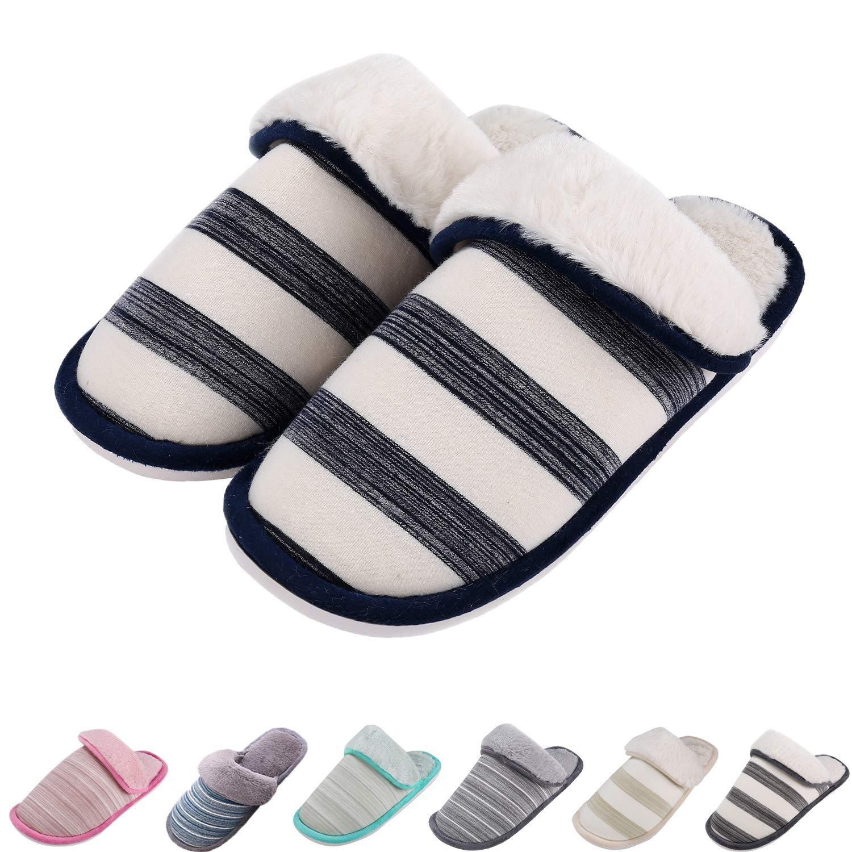 4620a4f614c49 Women's Cute Animal Slippers Warm Memory Foam Cotton Home Slippers ...