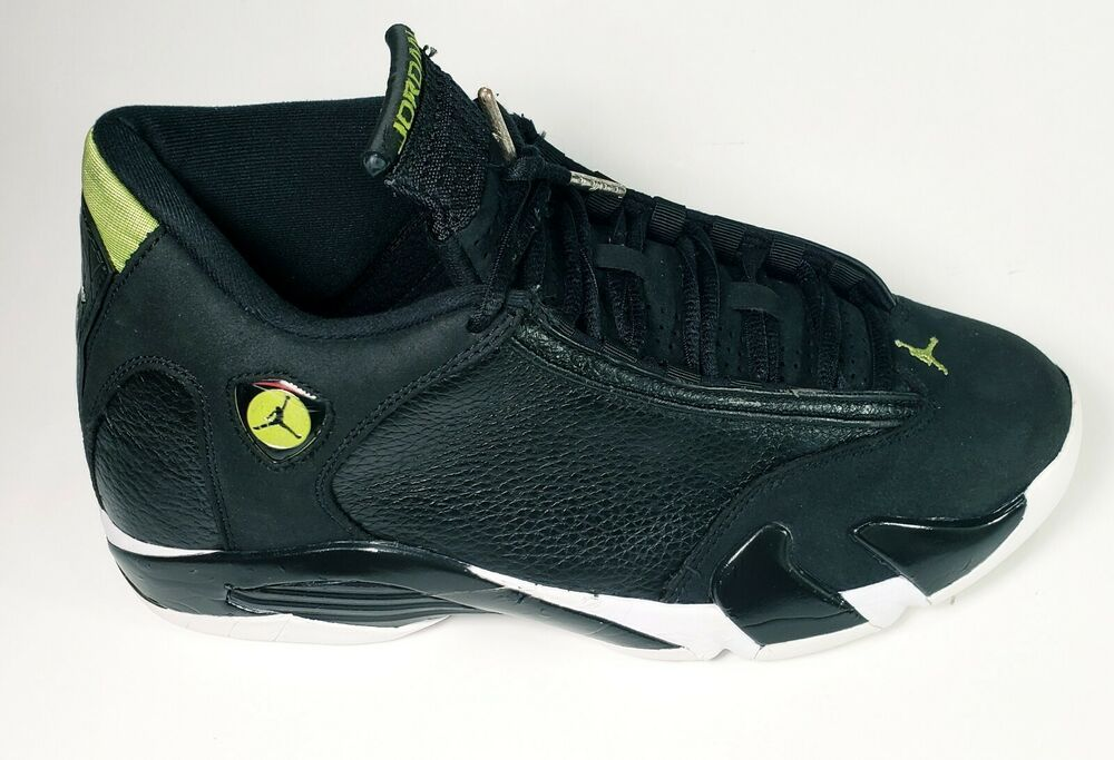 sale retailer 8ea5d af84a Nike Air Jordan Retro 14 XIV Indiglo Black White Green ...