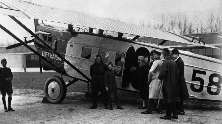 Eröffnung Linienflug Lufthansa 1926 (Foto Flughafen