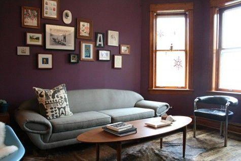 Charming Room Decor · Plum Walls ...