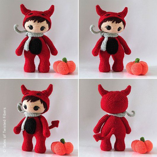 The Little Red Devil | Amigurumis gratis, Halloween y Patrones