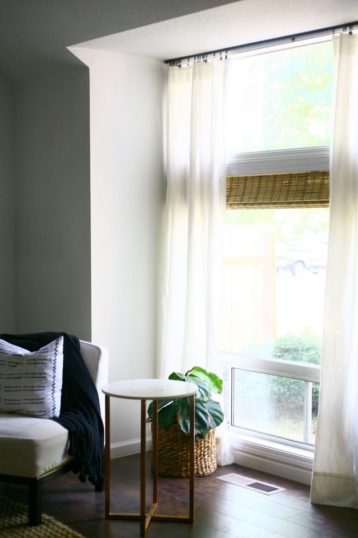 Finally A Simple Sleek Ceiling Mount Curtain Rod Ceiling Mount