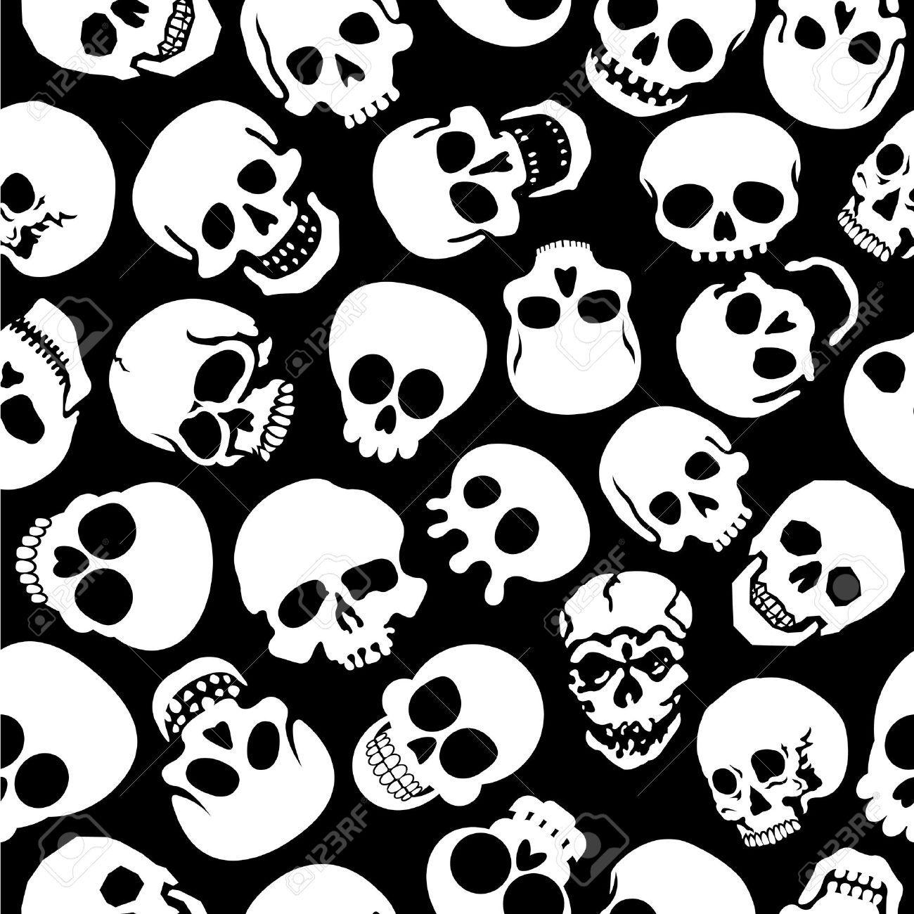 13769462-Skulls-in-Black-Background-Seamless-Pattern-Stock-Vector-skulls-halloween-zombie.jpg (1300×1300)