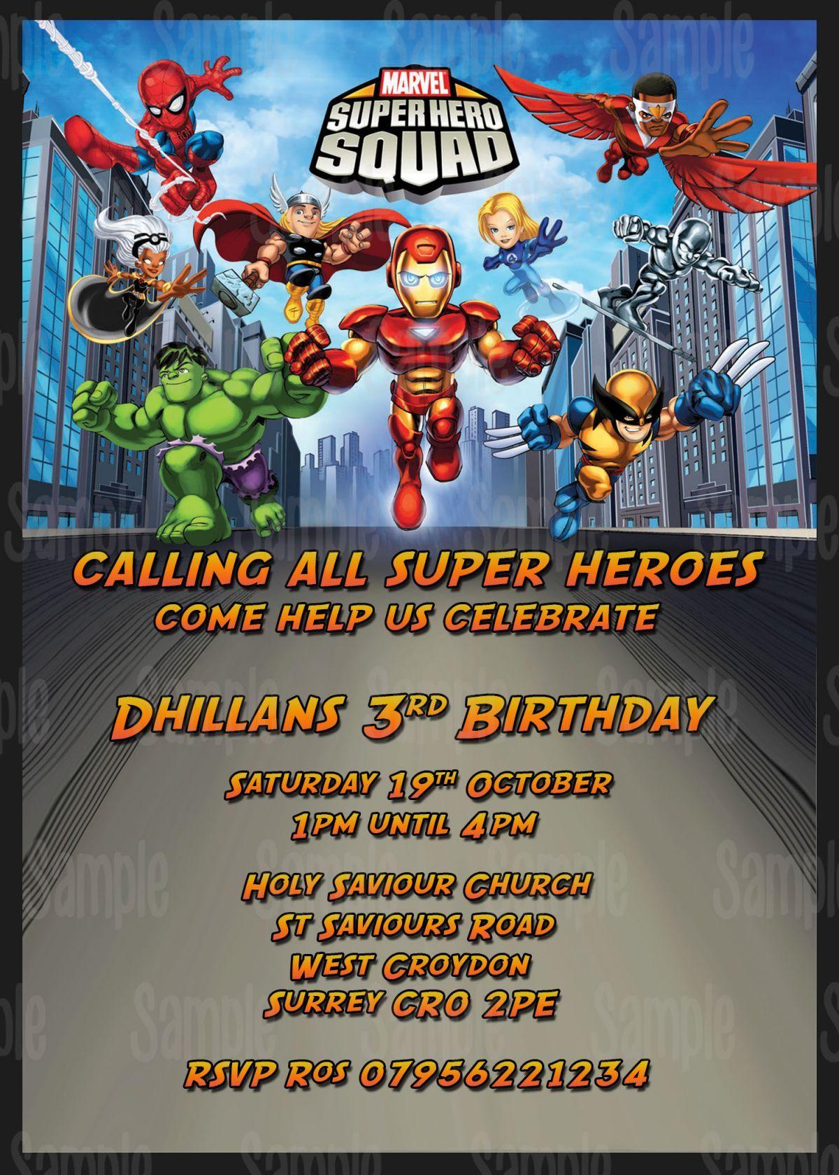 superhero birthday party invite ideas - Google Search | baby shower ...