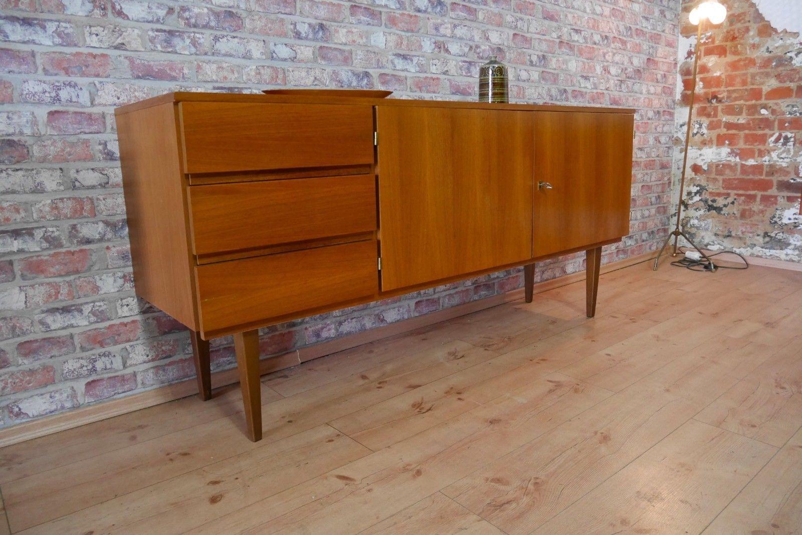 Sideboard kommode schrank 50er 60er jahre teak nuss ebay utroly bathrooms schrank - Badezimmer 50er ...