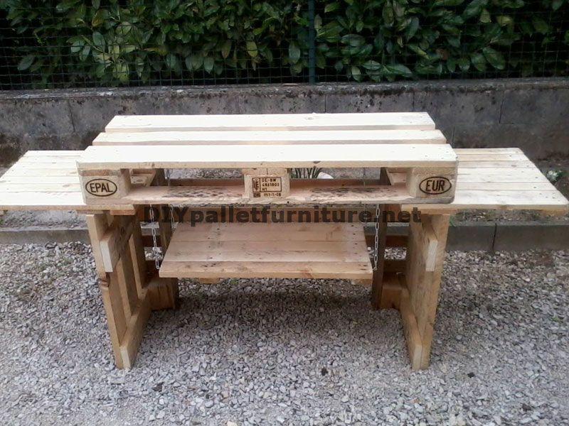 outdoor kitchen with pallets 3 pallet floors pinterest meuble plancha plancher et meuble. Black Bedroom Furniture Sets. Home Design Ideas