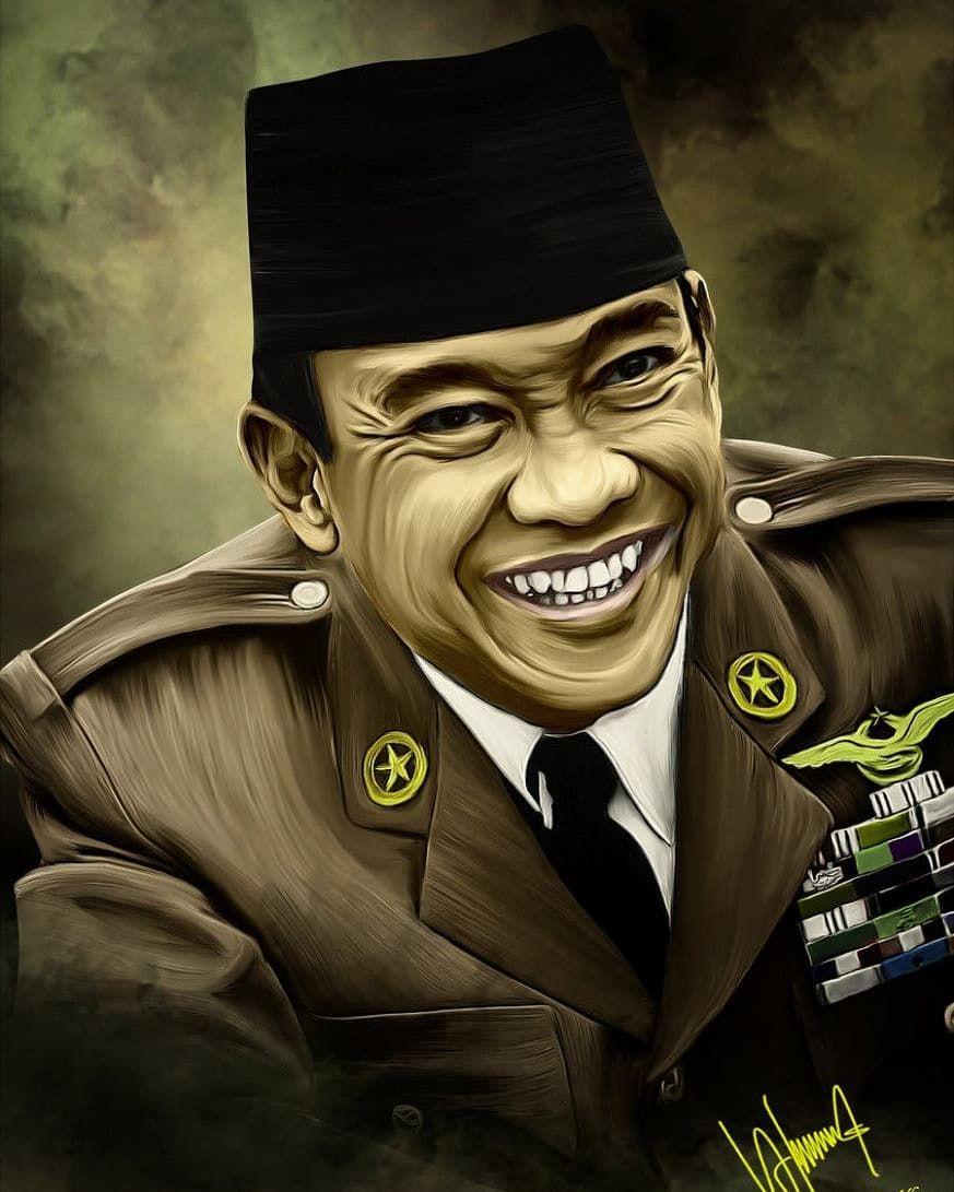 Sketsa Gambar Pahlawan Soekarno