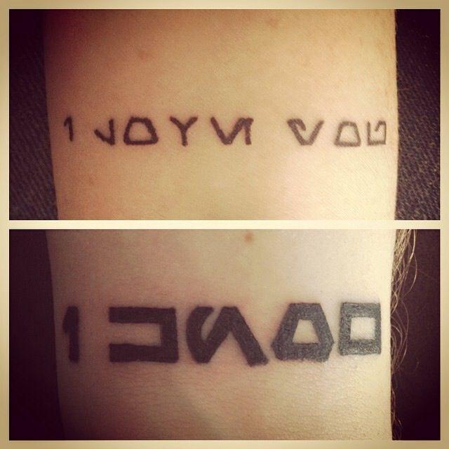 My husband i got matching tattoos starwars tattoos for Matching star wars tattoos