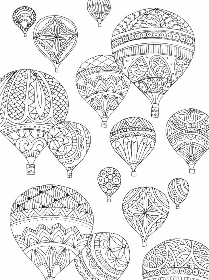 Hot Air Balloon Mandalas Coloring Pages Adult Coloring Mandala
