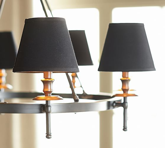 black linen chandelier shades http://rstyle.me/n/r63zvr9te | Black ...