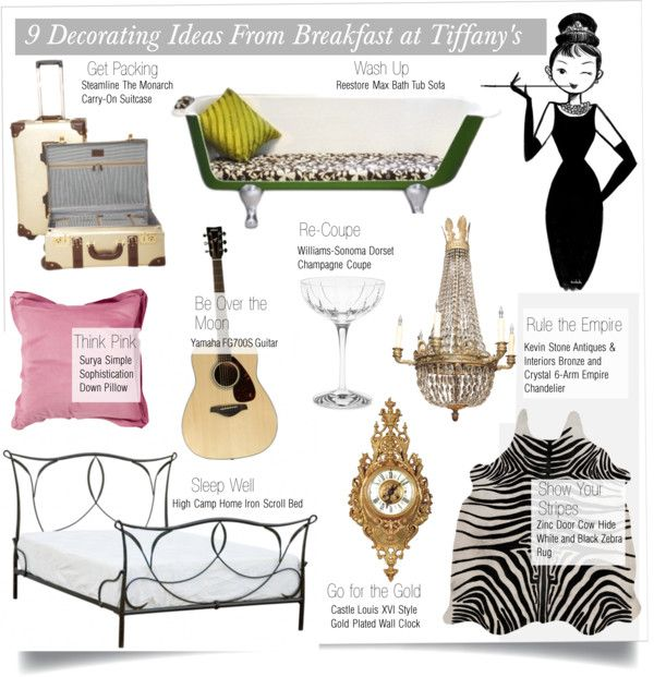 """9 Decorating Ideas From Breakfast at Tiffany's"" by kusja on Polyvore"