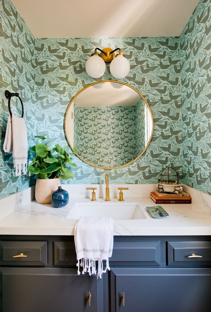 Kate Lester Interiors Bird wallpaper bedroom, Room