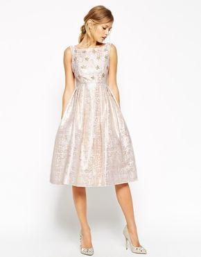 Enlarge ASOS SALON Crystal Bodice Jacquard Prom Dress