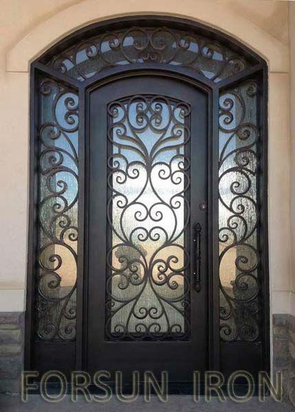 Porte en fer forg vitr e recherche google fer forg iron doors wrought iron doors et - Porte en fer forge exterieur ...