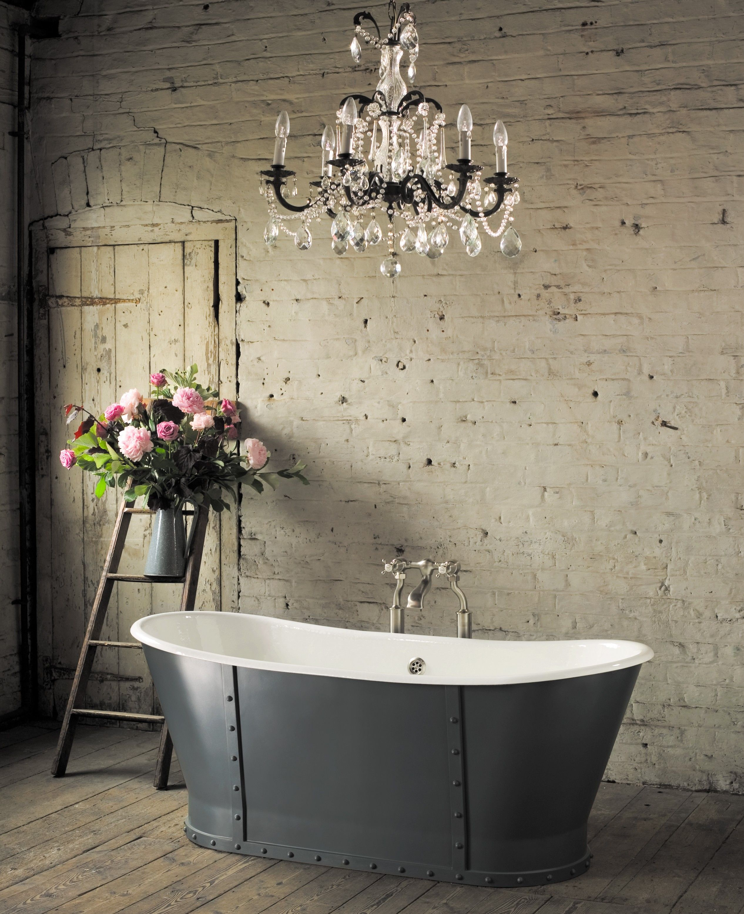 Astonian Brunel 1700x700mm cast iron roll top bath | Downstairs ...