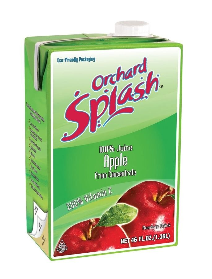 #Sweet, slightly tart, with a light crispness, Orchard Splash 100% #AppleJuice is a ready to serve juice that is perfect for morning #breakfast or any occasion. The shelf stable packaging means it needs no refrigeration until after opening and is sure be a pantry staple.