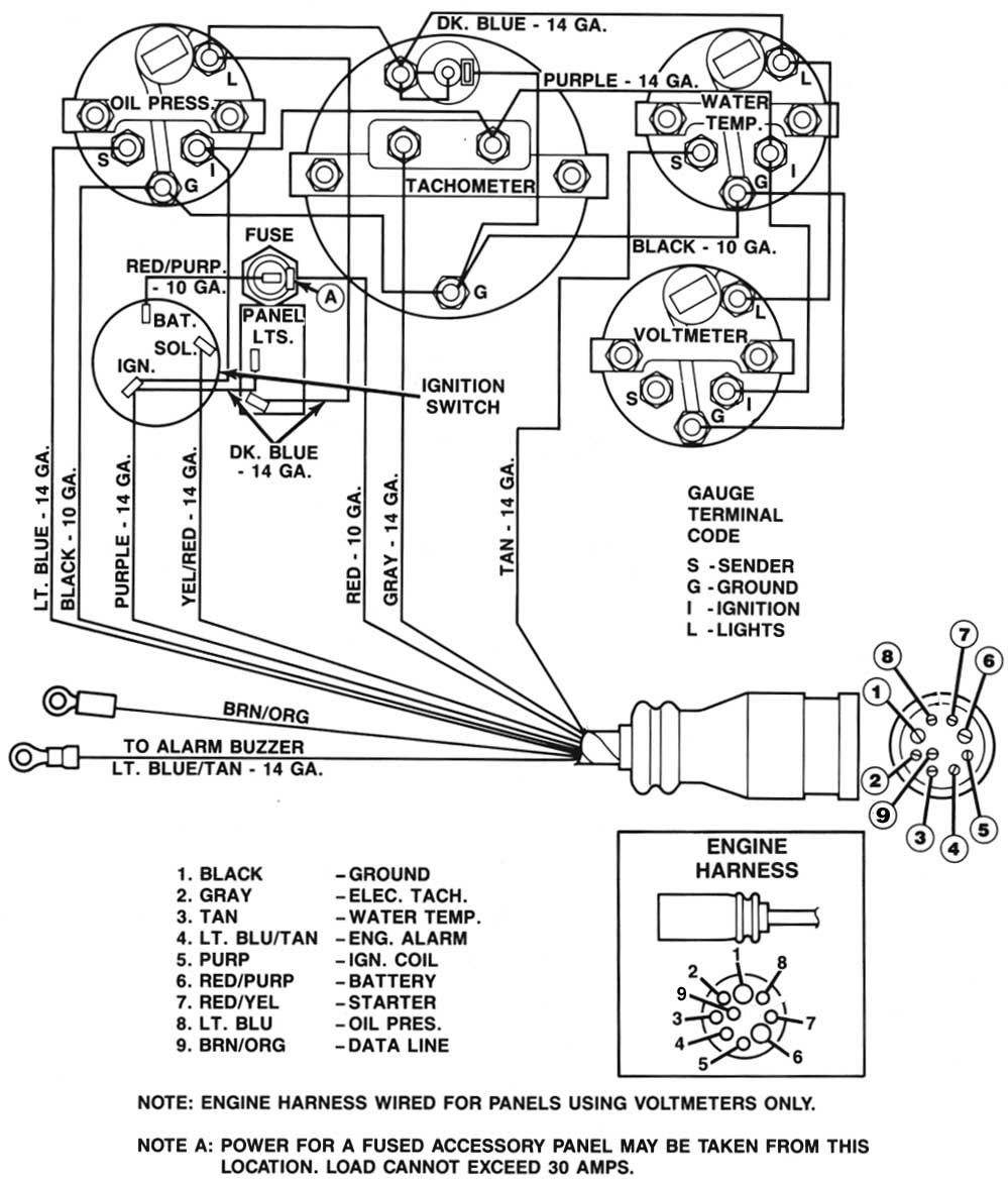 6 Wire Mercruiser Tachometer Wiring - Wiring Diagram M6 Gas Club Car Wiring Diagram Tachometer on