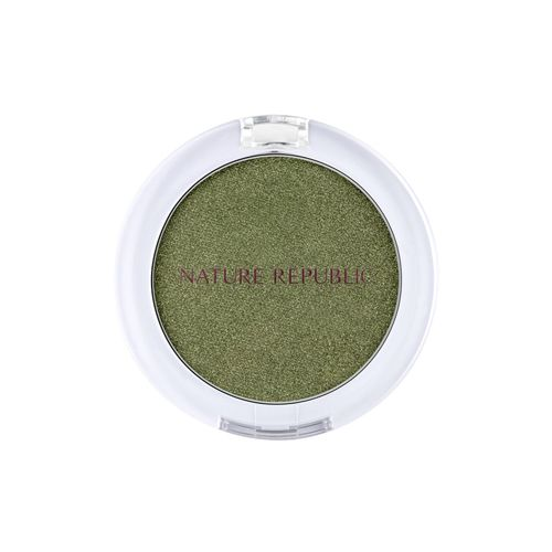 NATURE REPUBLIC By Flower Eye Shadow 2.5g - No.15 Khaki  Feature Shiny pearl pigments shine Shiny Pearl with excellent color clarity and gloss Soft and light feeling Thin and transparent, gives a feeling of lightness. It is melted to the skin temperature to increase the pearl adhesion to make bright eyes. Volume 1.8g Weight 99g How To Use Apply right amount onto eye areas, use finger tip to even.