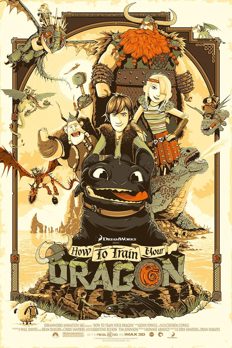How To Train Your Dragon # 1 Cartoon Movie A4 Print Poster Photo Wall Picture 1