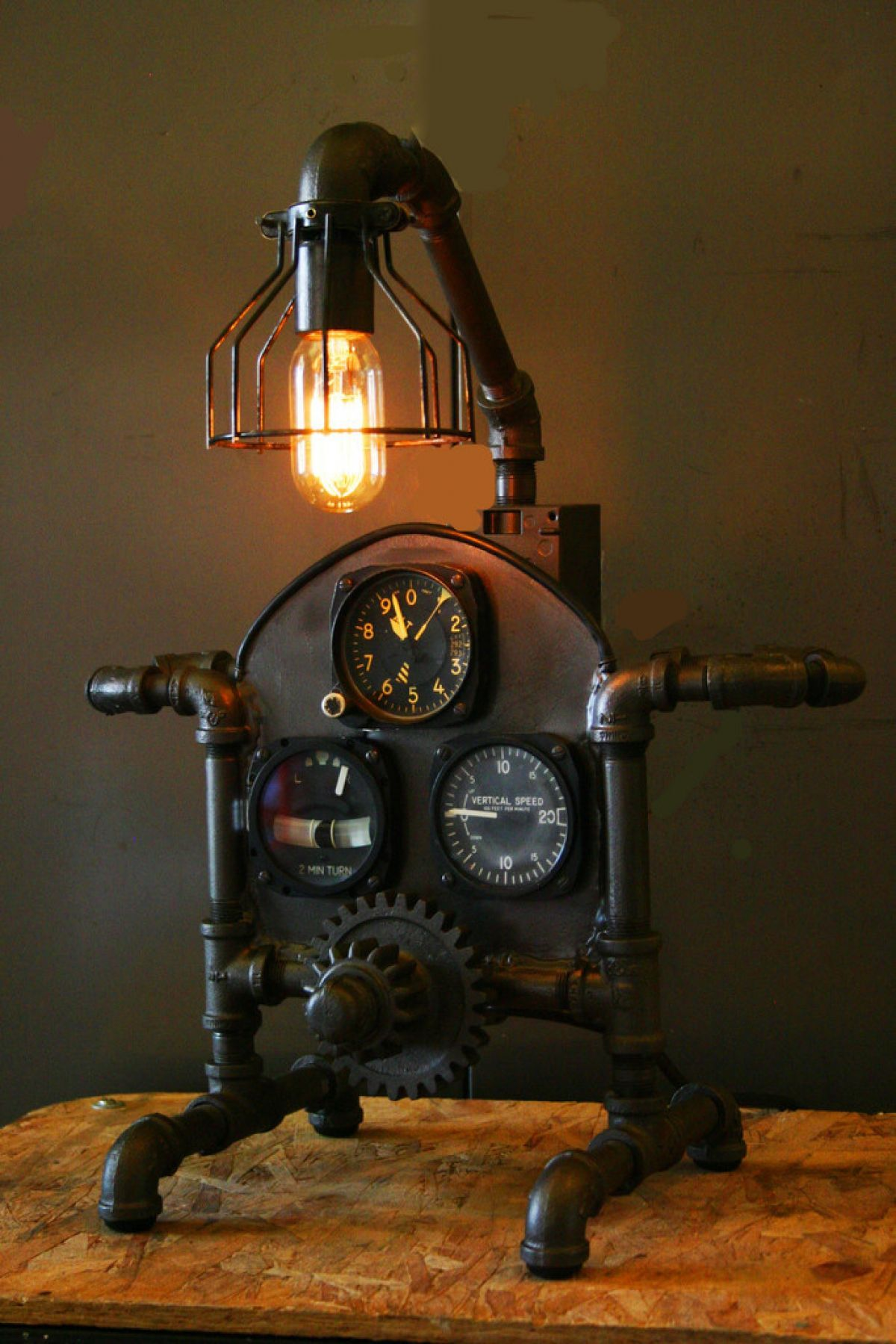 Industrial lamps for sale - 18 Gorgeous Steampunk Machine Age Lamps Homes And Hues