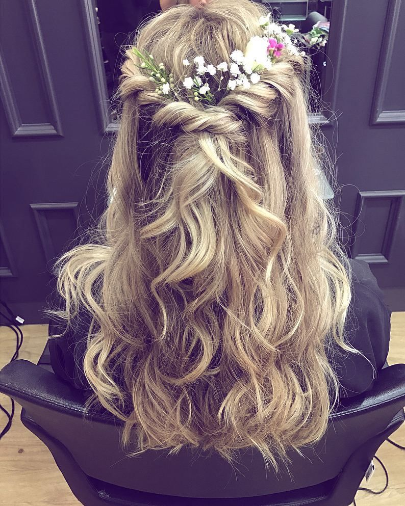 some beautiful wedding hair for you all the way from rush