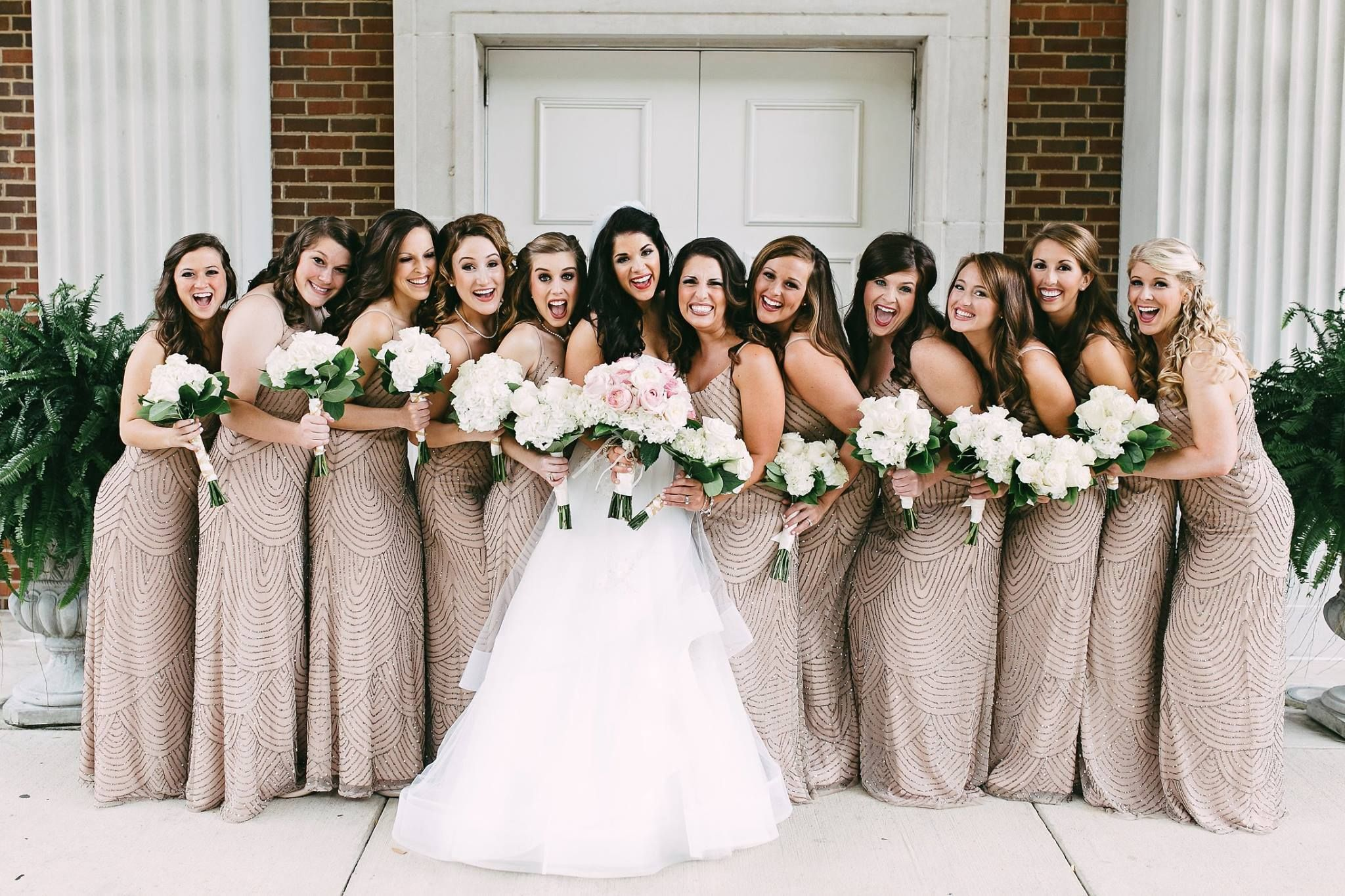 Shop these beaded blouson dresses in taupe pink for your shop these beaded blouson dresses in taupe pink for your bridesmaid tribe photo by ombrellifo Image collections
