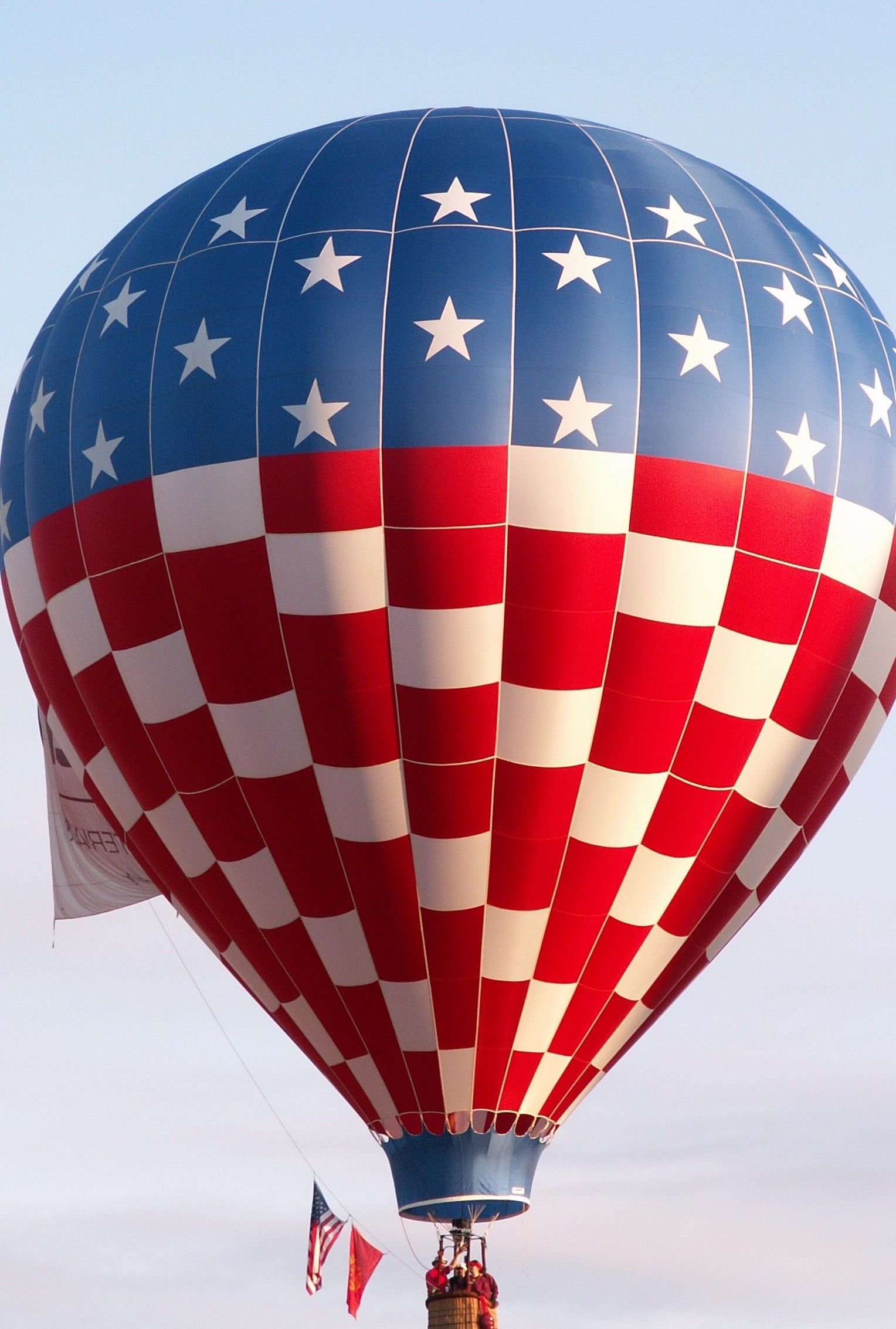 USA theme of balloon in The Albuquerque Balloon Fiesta