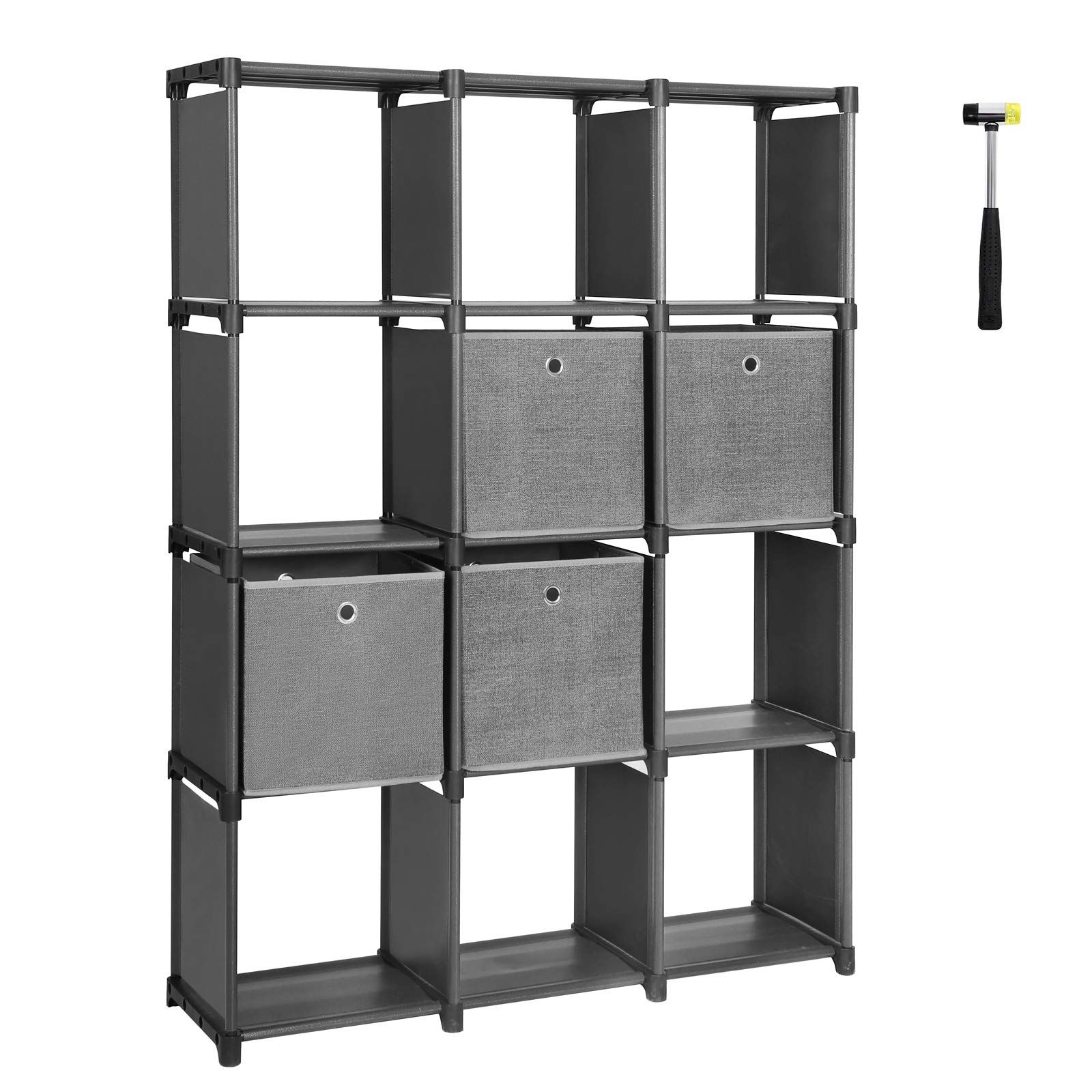 Songmics Diy Cube Storage Unit With Storage Boxes 12 Cubes Multifunctional Book Shelves And Shoe Rack Modular S Diy Cube Storage Cube Storage Unit Cube Storage