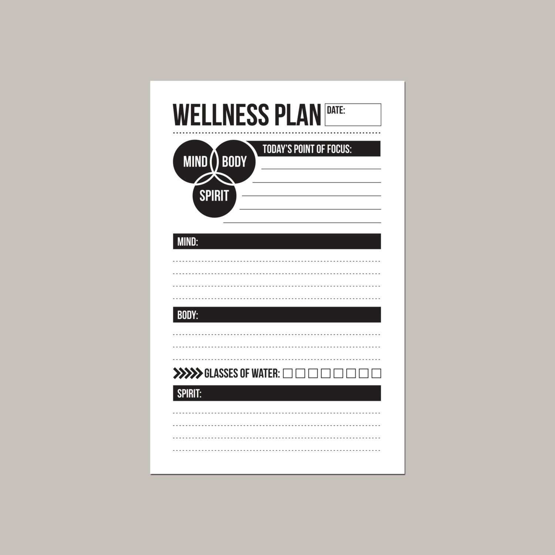 Mini Mind Body Spirit Daily Wellness Worksheet Mind Body Spirit Mind Body Ways To Be Healthier