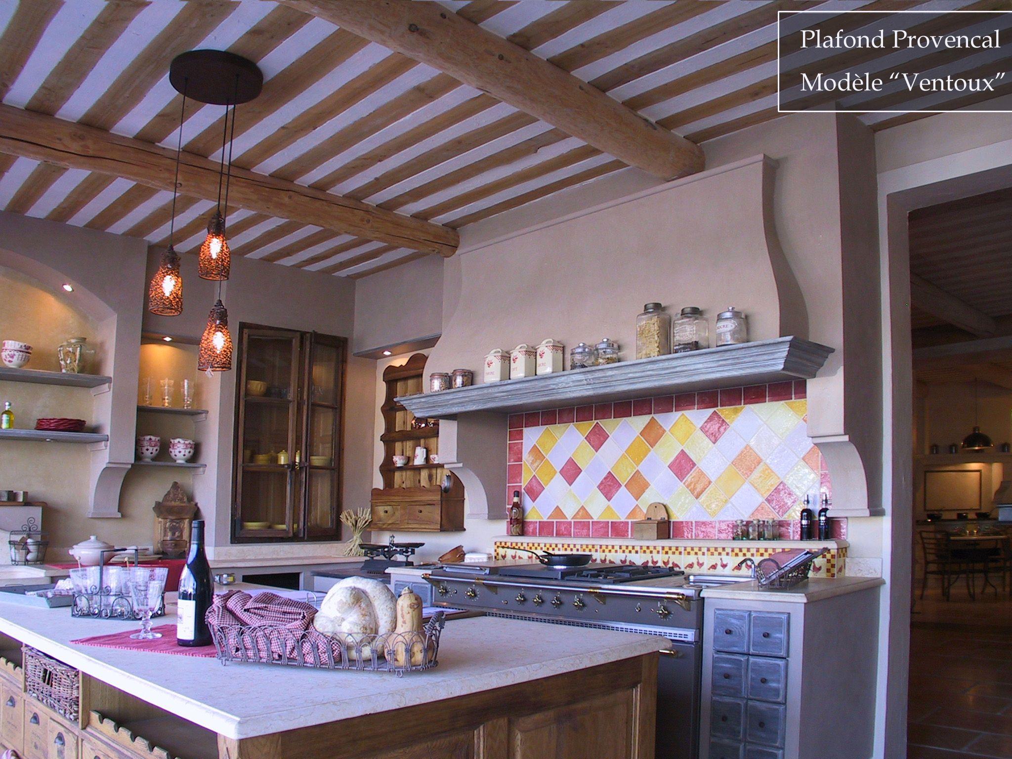 plafond de Provence prªt  poser cuisine deco