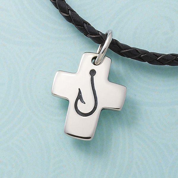 James Avery Mens Cross Necklace: Fishers Of Men Cross #jamesavery #cross