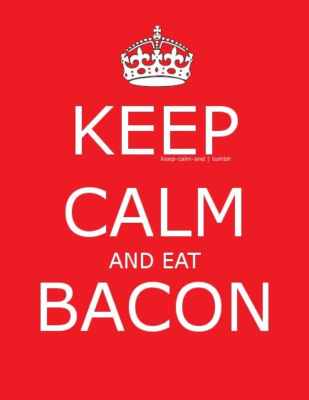 I love the smell of bacon in the morning.