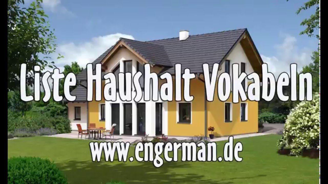 Wortschatz Haus Vokabeln Begriffe Aus Wohnung Und Haus Learn German World Languages German Grammar