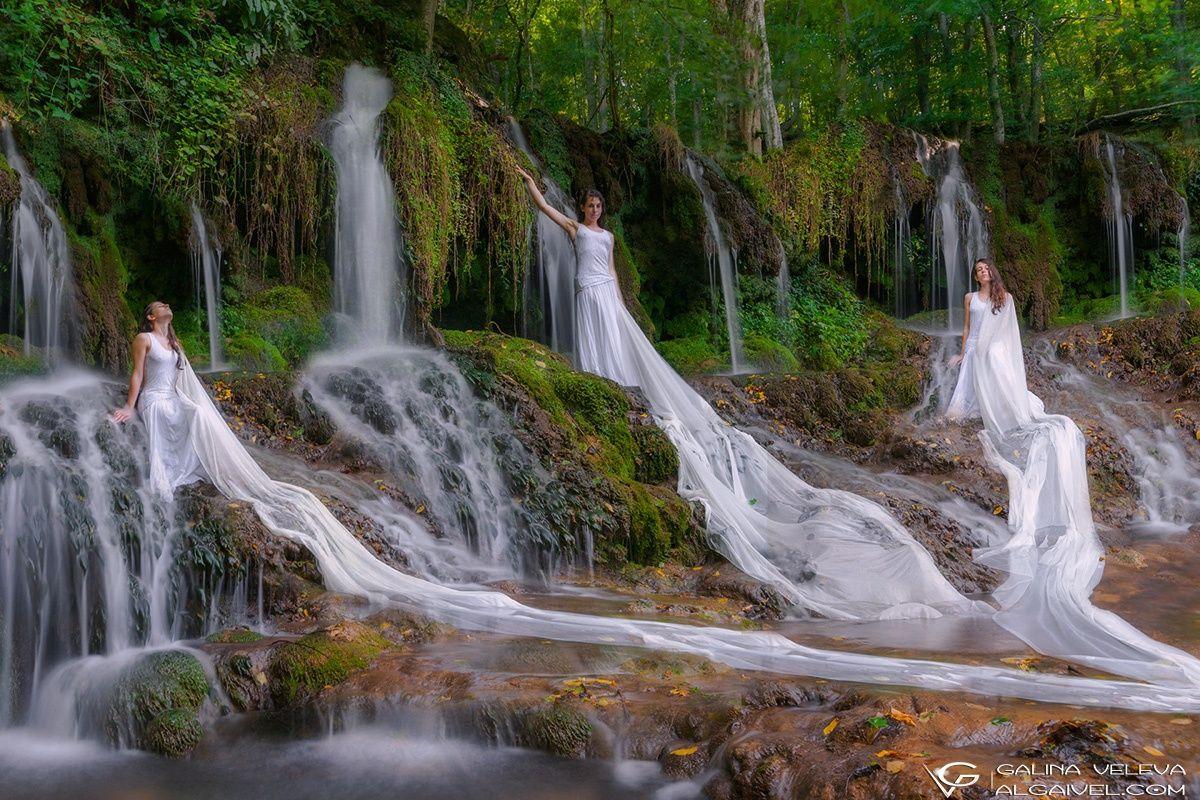 Girl and waterfall by Galia Veleva on 500px