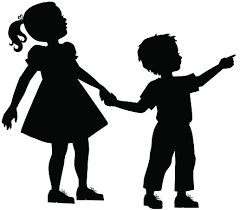 Image result for little brother and sister silhouette