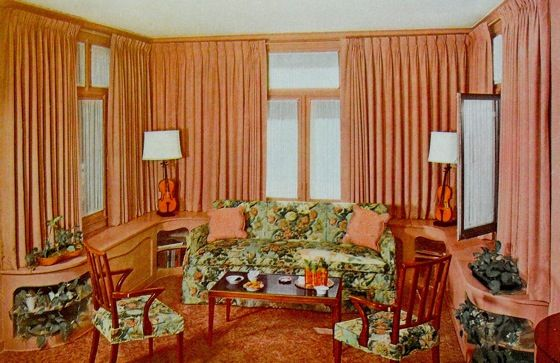 1940 living room decor 1940 s home decor warp around living room wall cabinetry 14825